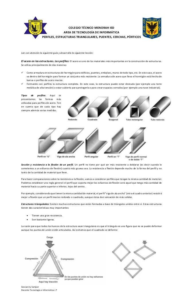 Geovanny Samper Docente Tecnología e Informática J.T COLEGIO TÉCNICO MENORAH IED AREA DE TECNOLOGÍA DE INFORMÁTICA PERFILE...