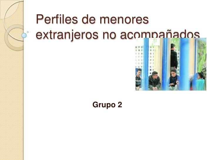 Perfiles de menores extranjeros no acompañados<br />Grupo 2<br />