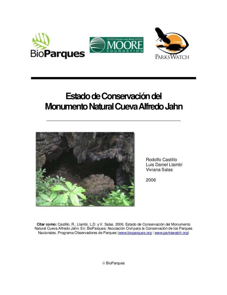 Monumento Natural Cueva Alfredo Jahn (2006)