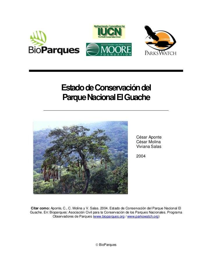 Parque Nacional El Guache (2004)