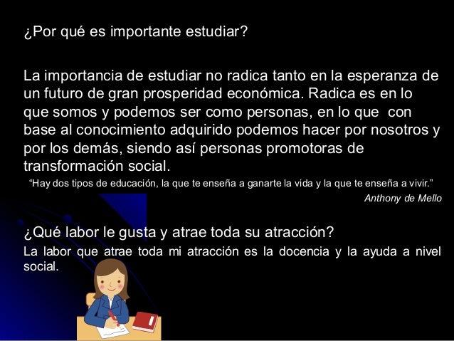 ¿Por qué es importante estudiar?¿Por qué es importante estudiar? La importancia de estudiar no radica tanto en la esperanz...