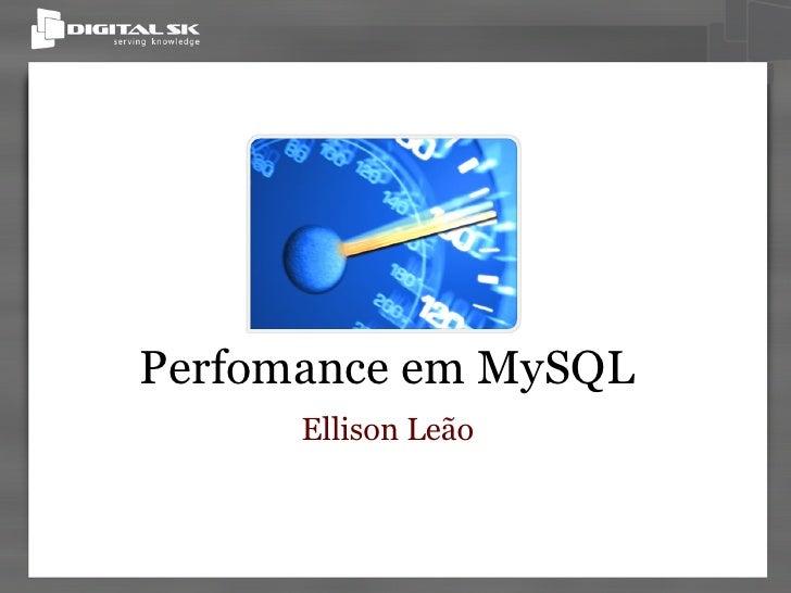 Perfomance em MySQL