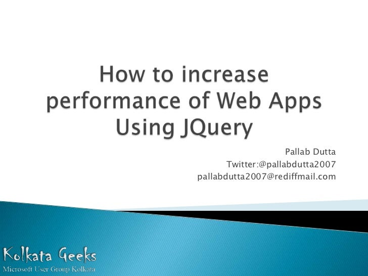 How to increase Performance of Web Application using JQuery