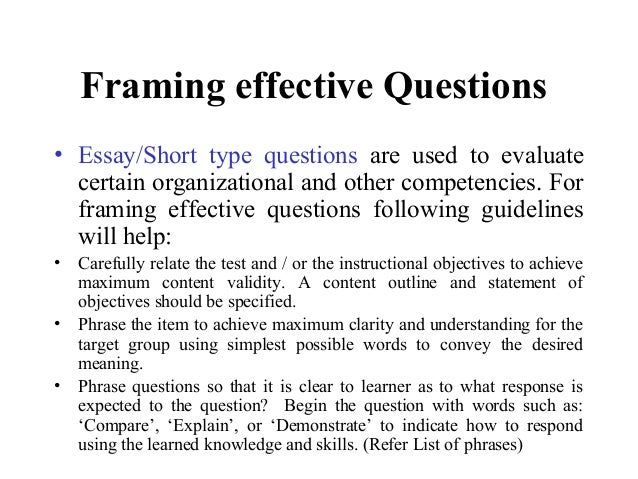meaning of essay type questions