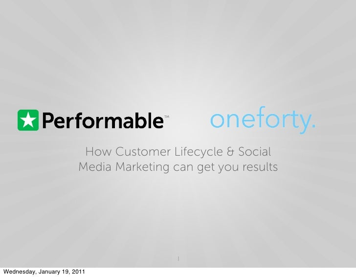Performable one forty webinar