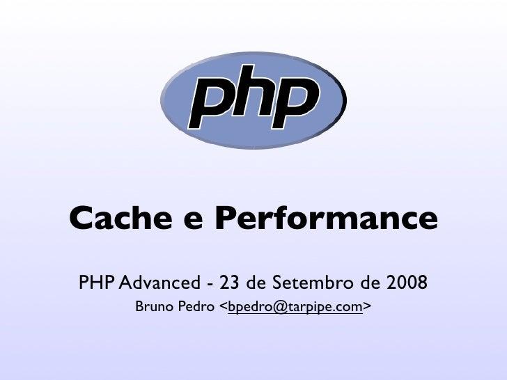 Cache e Performance (in portuguese)