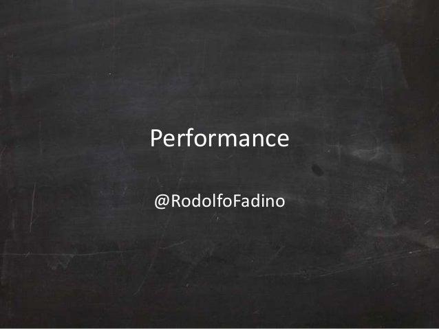 Performance Web