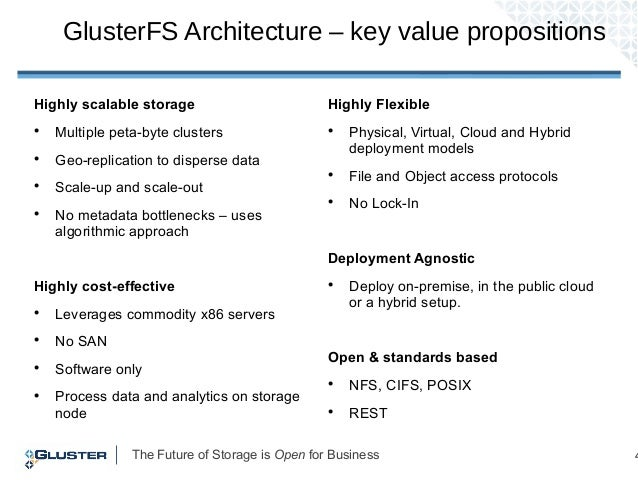 The Future of Storage is Open for Business 4 Highly scalable storage  Multiple peta-byte clusters  Geo-replication to di...