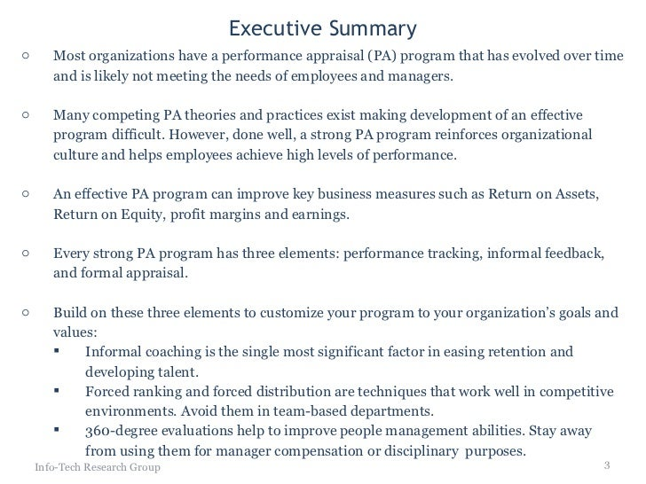 Employee evaluation summary