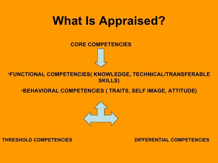 Performance appraisal an objective look for What does an appraiser look for