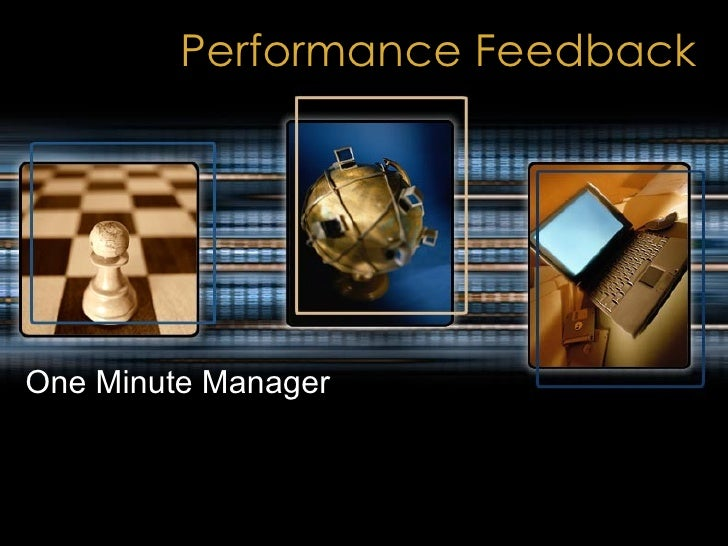 Performance Feedback One Minute Manager