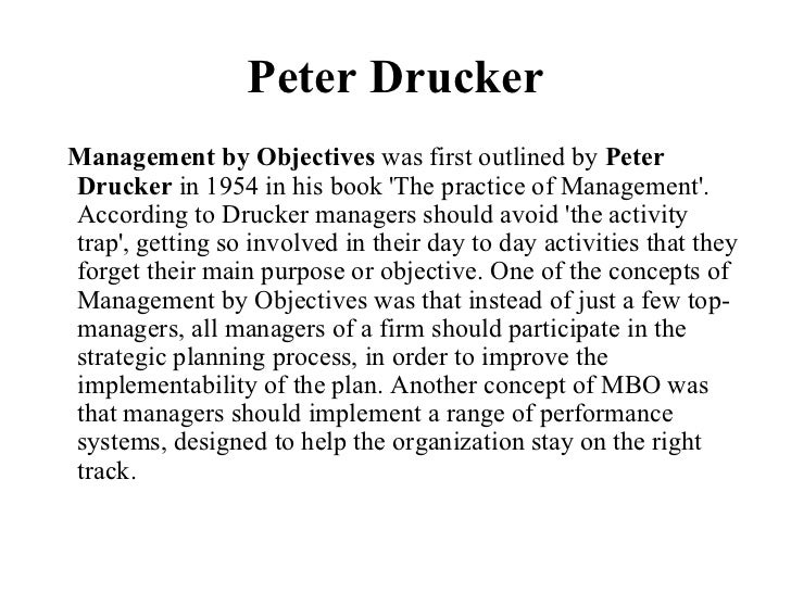 drucker 5 step process mbo