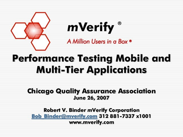 Performance Testing Mobile and Multi-Tier Applications