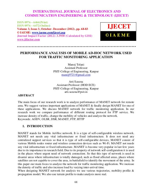 INTERNATIONAL JOURNAL OF ELECTRONICS ANDInternational Journal of Electronics and Communication Engineering & Technology (I...