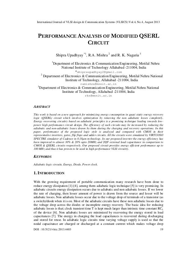 PERFORMANCE ANALYSIS OF MODIFIED QSERL CIRCUIT