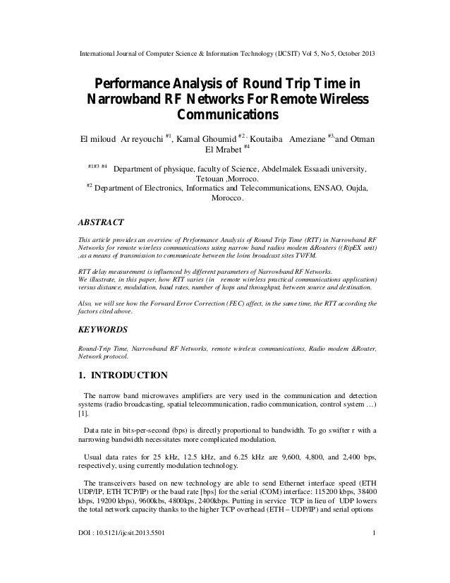 International Journal of Computer Science & Information Technology (IJCSIT) Vol 5, No 5, October 2013  Performance Analysi...