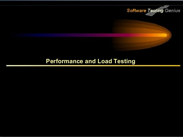Performance and Load Testing