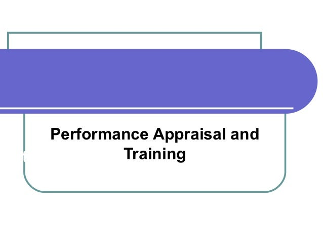 Performance Appraisal andhapter III      Training