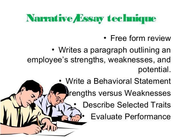 narrative essay writing techniques