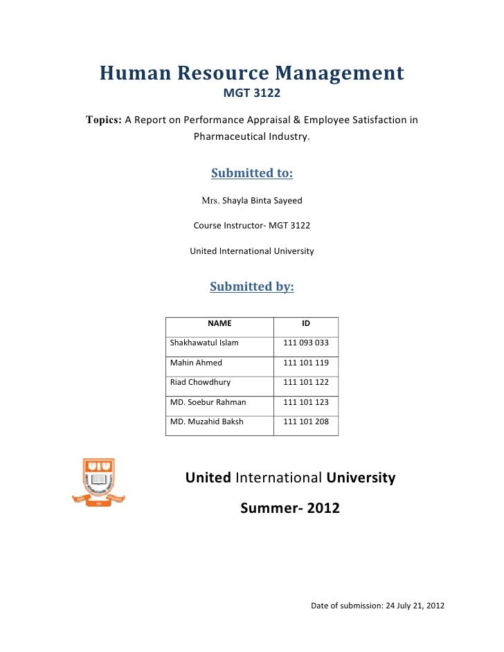 Dissertation Report On Performance Appraisal