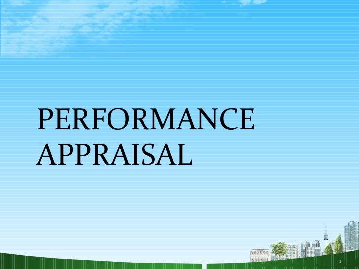 Performance appraisal hr ppt @ bec doms