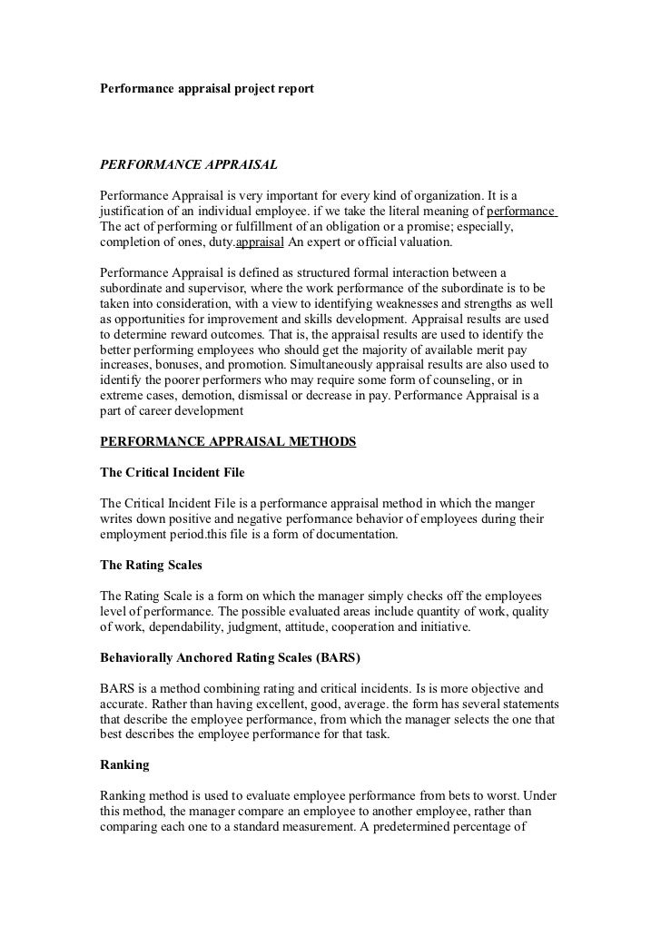 literature review on performance appraisal project