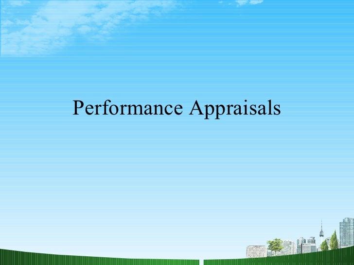 Performance appraisals HR PPT @ MBA