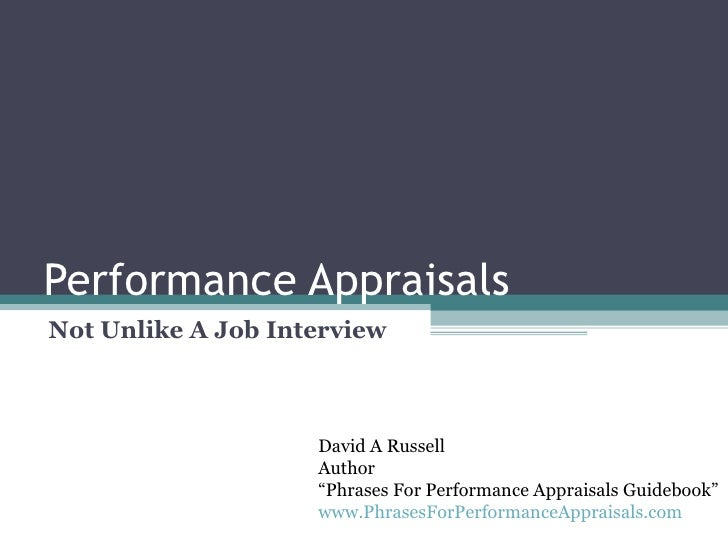 Performance Appraisals Interview
