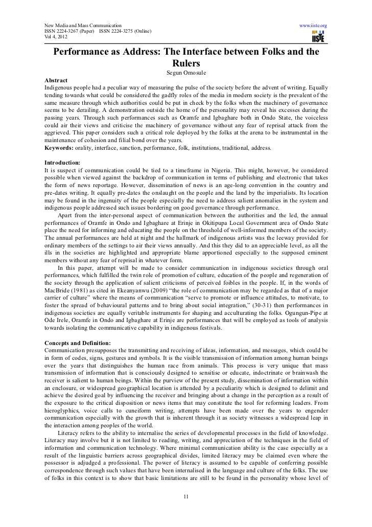 New Media and Mass Communication                                                                        www.iiste.orgISSN ...