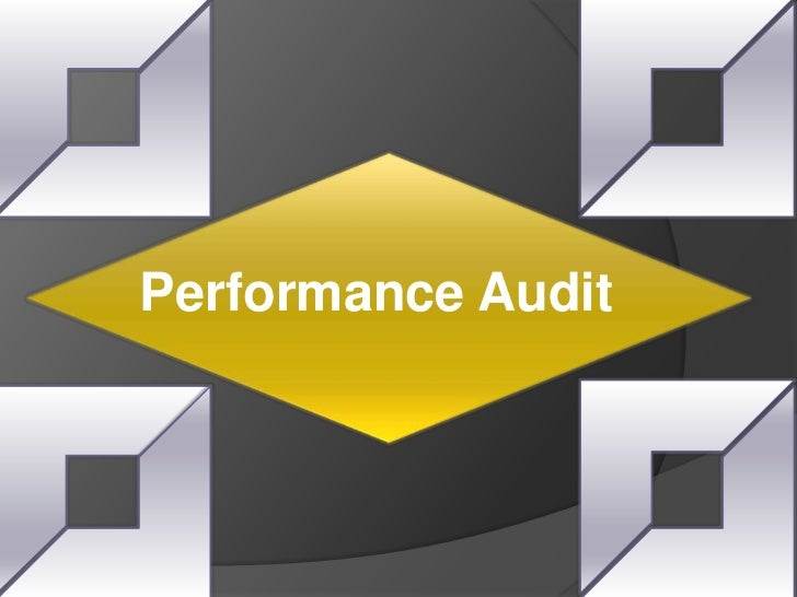 Measuring Institional Effectiveness by Performance Audit