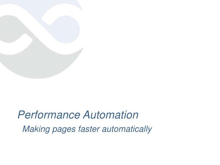 Web Performance Automation - NY Web Performance Meetup
