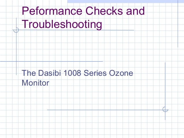 Performance checks dasibi ozone-v2
