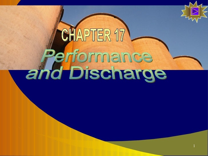 Performance and Discharge CHAPTER 17