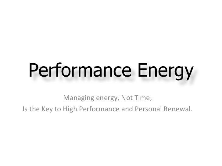 Performance energy highlights for folder