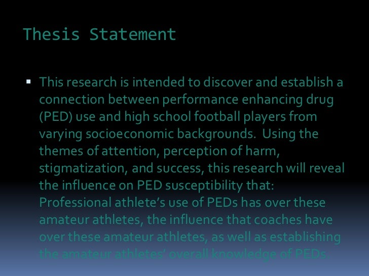 argumentative thesis statement and drug abuse in sport Thesis statement of drug abuse in sport possibly the evolving of technology or the use persuasive essay thesis statement – english forumspersuasive essay.
