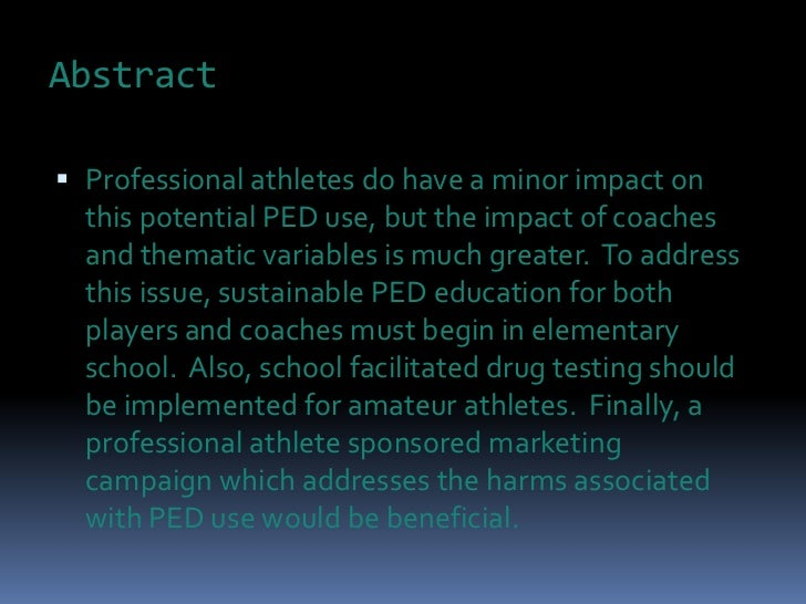 the use of performance enhancing drugs in sports and its impact