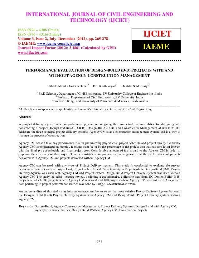 INTERNATIONAL JOURNAL OF CIVIL ENGINEERING ANDInternational Journal of Civil Engineering and Technology (IJCIET), ISSN 097...