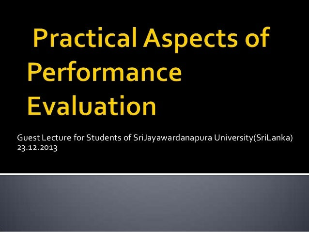 Guest Lecture for Students of SriJayawardanapura University(SriLanka) 23.12.2013