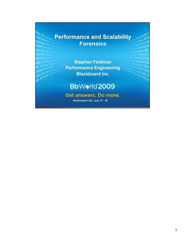 Shorter Version of BbWorld 09 Forensics Presentation