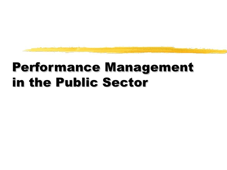 Performance Management in Public Sector