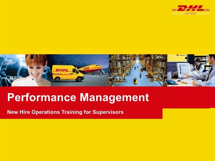 Performance Management New Hire Operations Training for Supervisors