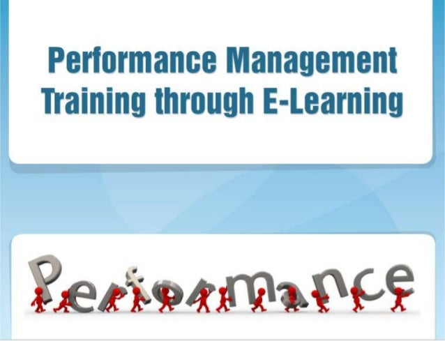 Performance Management Training through E-learning