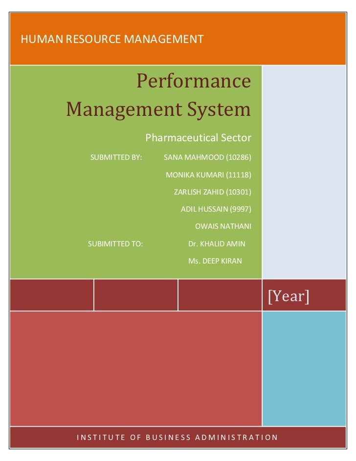 HUMAN RESOURCE MANAGEMENT            Performance      Management System                          Pharmaceutical Sector    ...