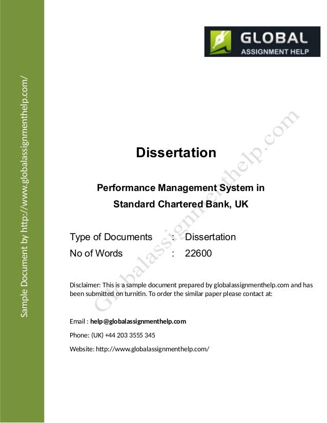 Phd thesis on performance appraisal