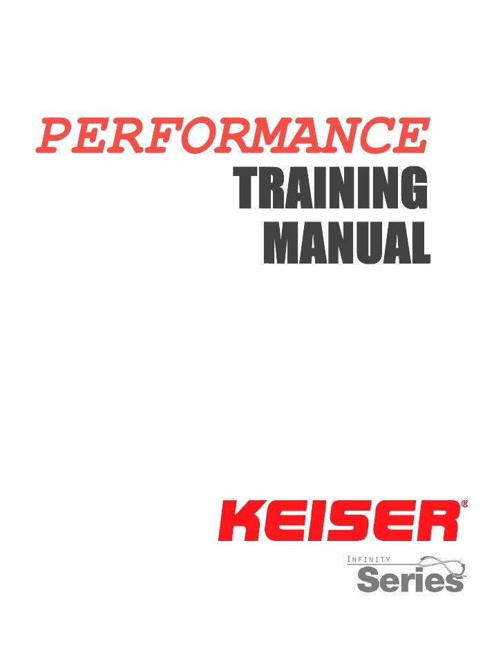 Keiser Performance Manual