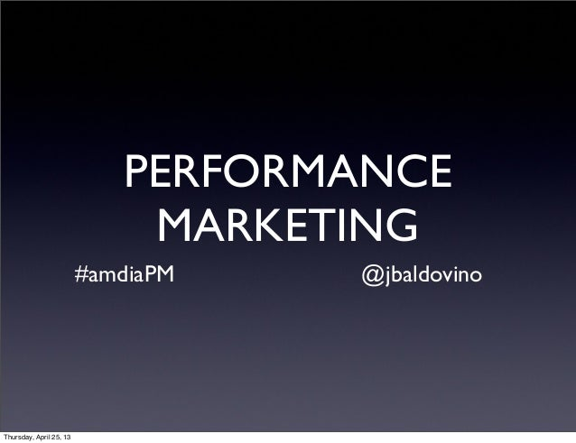 Desayuno AMDIA: Performance Marketing - Jonathan Baldovino - Making Sense