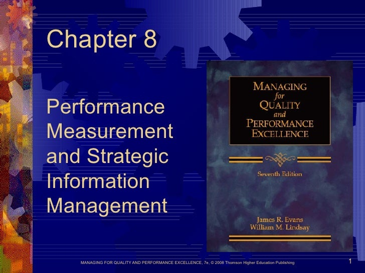 Chapter 8 Performance  Measurement  and Strategic  Information  Management