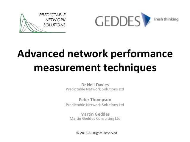 Advanced network performance measurement techniques
