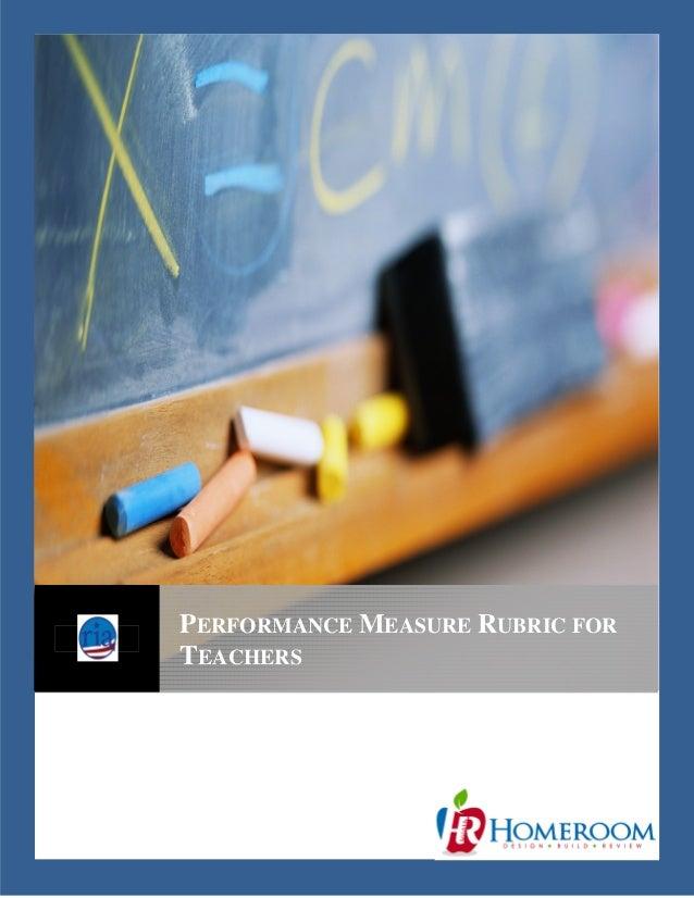 PERFORMANCE MEASURE RUBRIC FOR TEACHERS