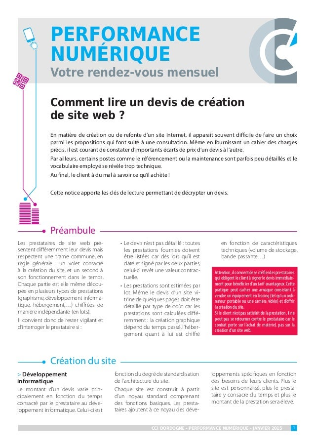 comment lire un devis de cr ation de site web par la cci de dordogne. Black Bedroom Furniture Sets. Home Design Ideas